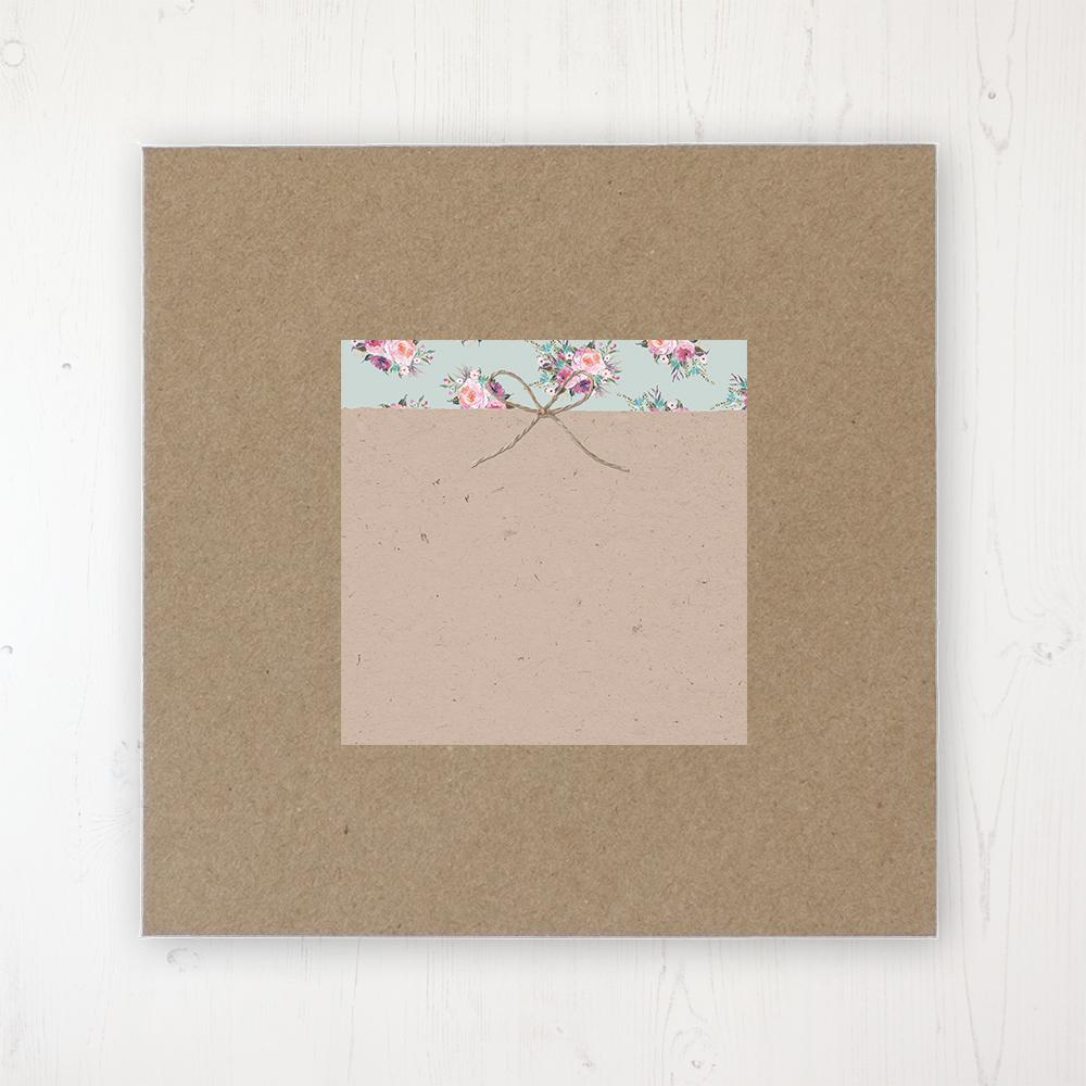 Tipi Love Wedding Envelope Label on Rustic Brown Envelope