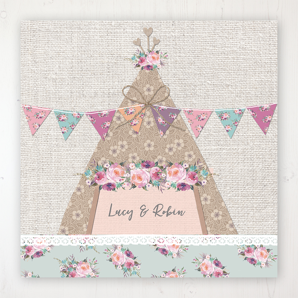Tipi Love Wedding Collection - Main Stationery Design