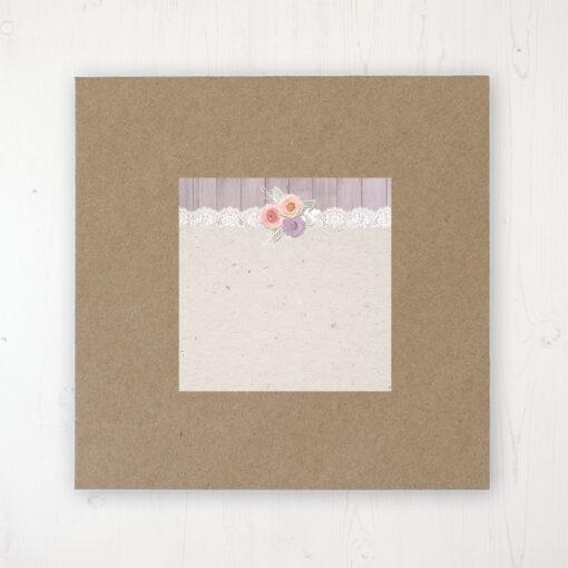 Vintage Birdcage Wedding Envelope Label on Rustic Brown Envelope