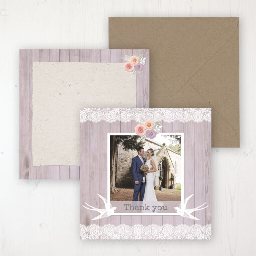 Vintage Birdcage Wedding with a photo and with space to write own message
