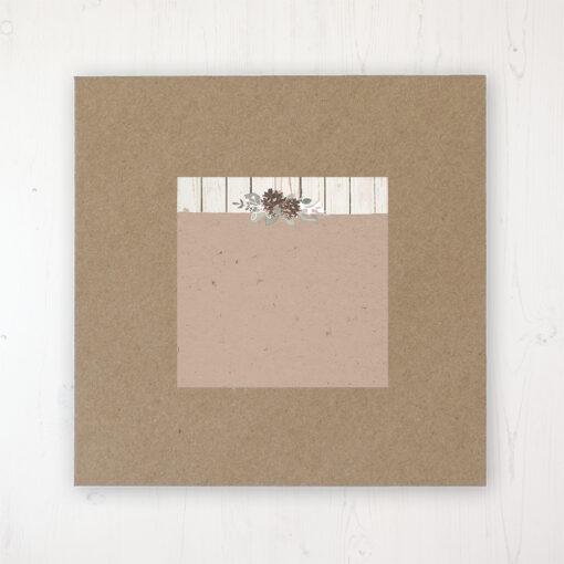 Wild Woodland Wedding Envelope Label on Rustic Brown Envelope