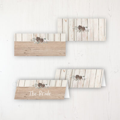 Wild Woodland Wedding Place Name Cards Blank and Personalised with Flat or Folded Option