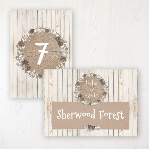 Wild Woodland Wedding Table Name & Number Personalised Table Name Card and Number Card