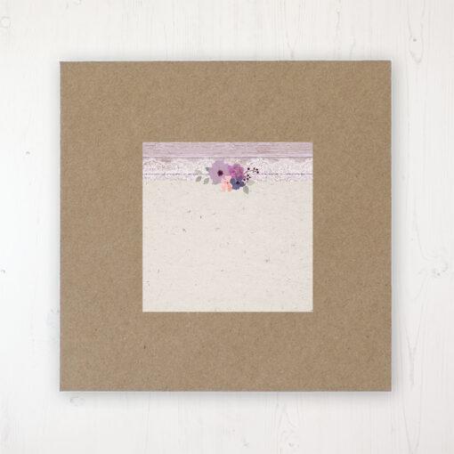 Wisteria Garden Wedding Envelope Label on Rustic Brown Envelope