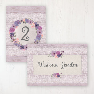 Wedding Table Names & Numbers
