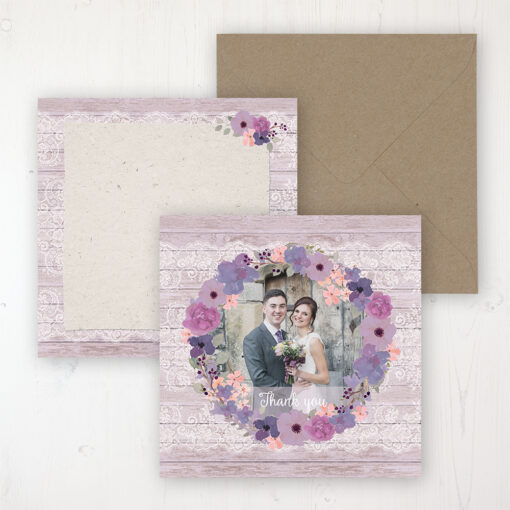 Wisteria Garden Wedding with a photo and with space to write own message