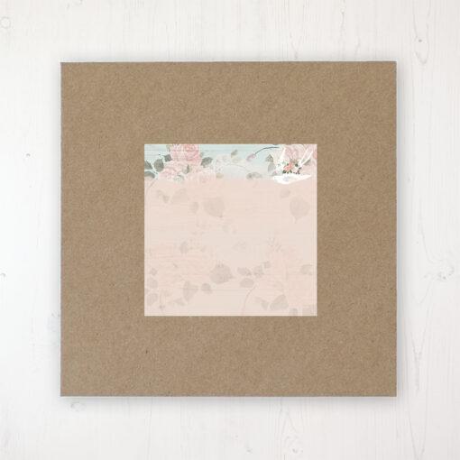 Dancing Swallows Wedding Envelope Label on Rustic Brown Envelope
