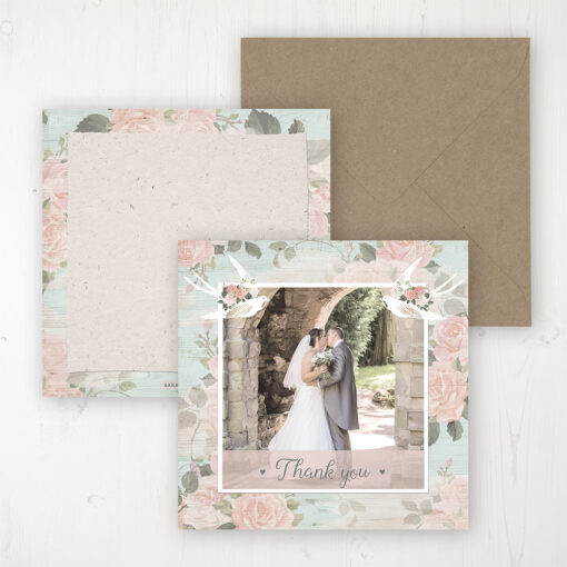 Dancing Swallows Wedding with a photo and with space to write own message