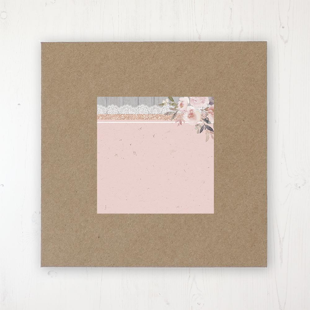 Delicate Mist Wedding Envelope Label on Rustic Brown Envelope