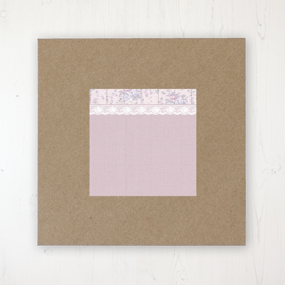 Dusky Dream Wedding Envelope Label on Rustic Brown Envelope