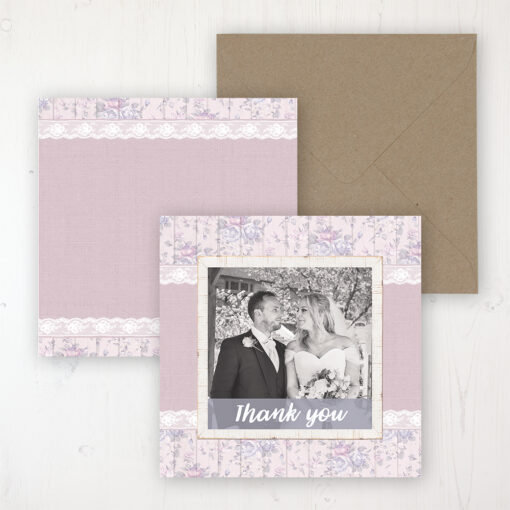 Dusky Dream Wedding with a photo and with space to write own message