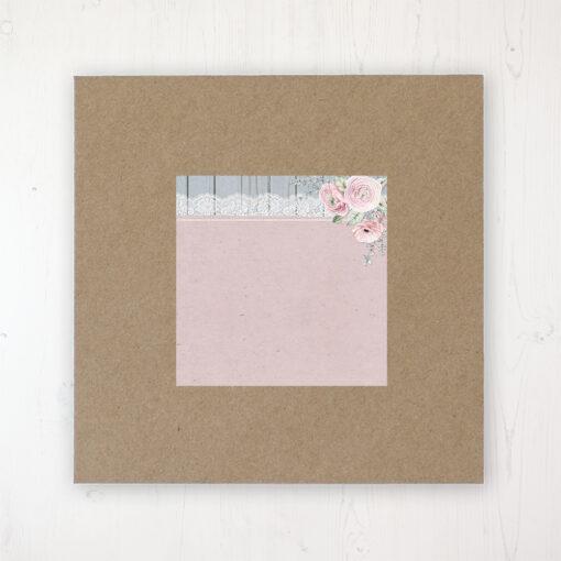 Dusty Flourish Wedding Envelope Label on Rustic Brown Envelope