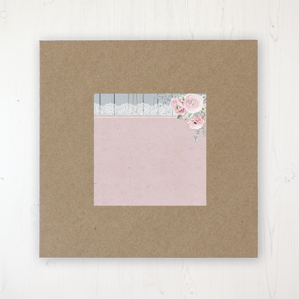 Dusty Flourish Wedding Envelope Label on Rustic Brown Envelope