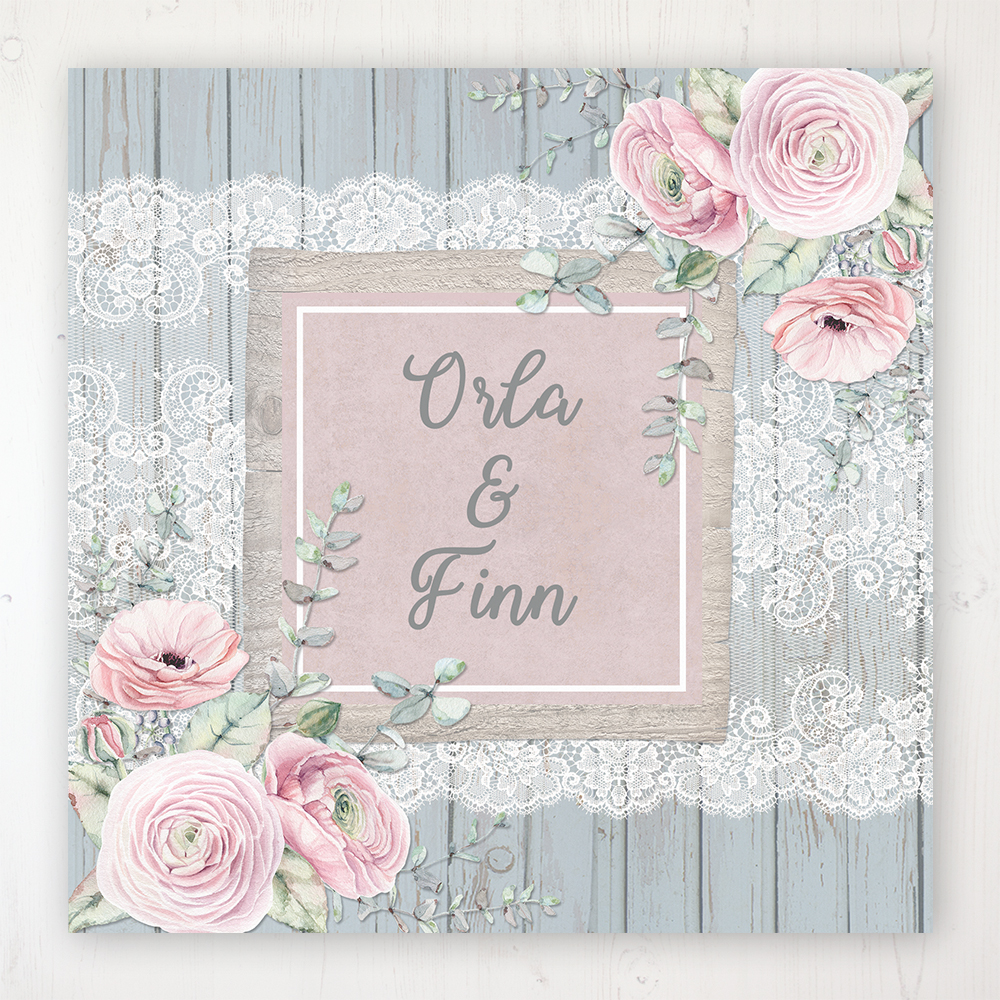 Dusty Flourish Wedding Collection - Main Stationery Design
