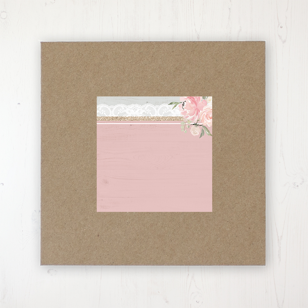 Enchanted Garden Wedding Envelope Label on Rustic Brown Envelope