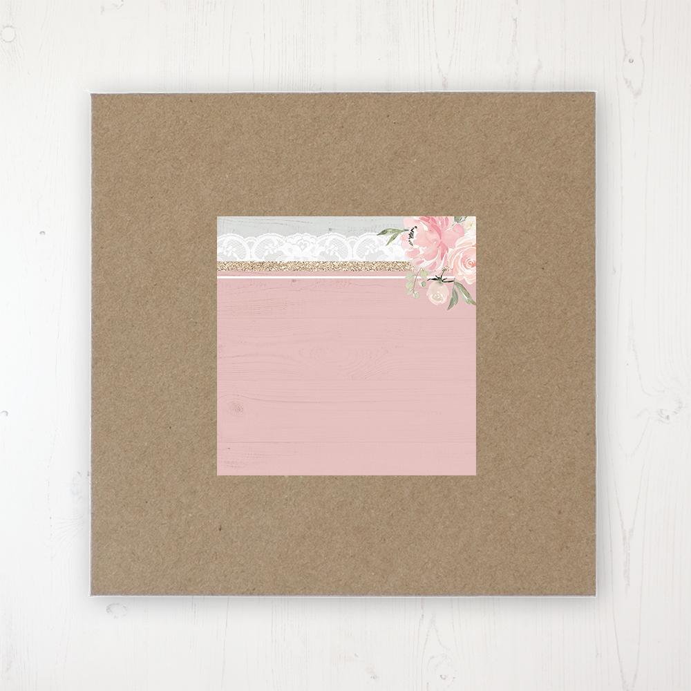 Enchanted Garden Wedding Envelope Label on Rustic Brown Envelope