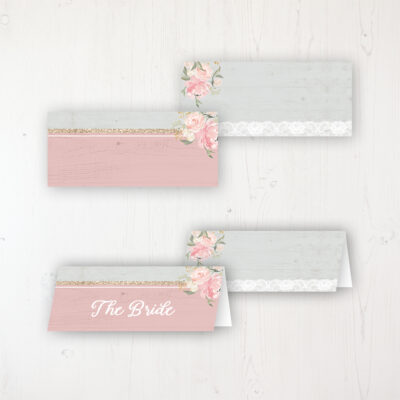 Enchanted Garden Wedding Place Name Cards Blank and Personalised with Flat or Folded Option