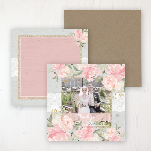 Enchanted Garden Wedding with a photo and with space to write own message