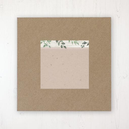 Evergreen Forest Wedding Envelope Label on Rustic Brown Envelope