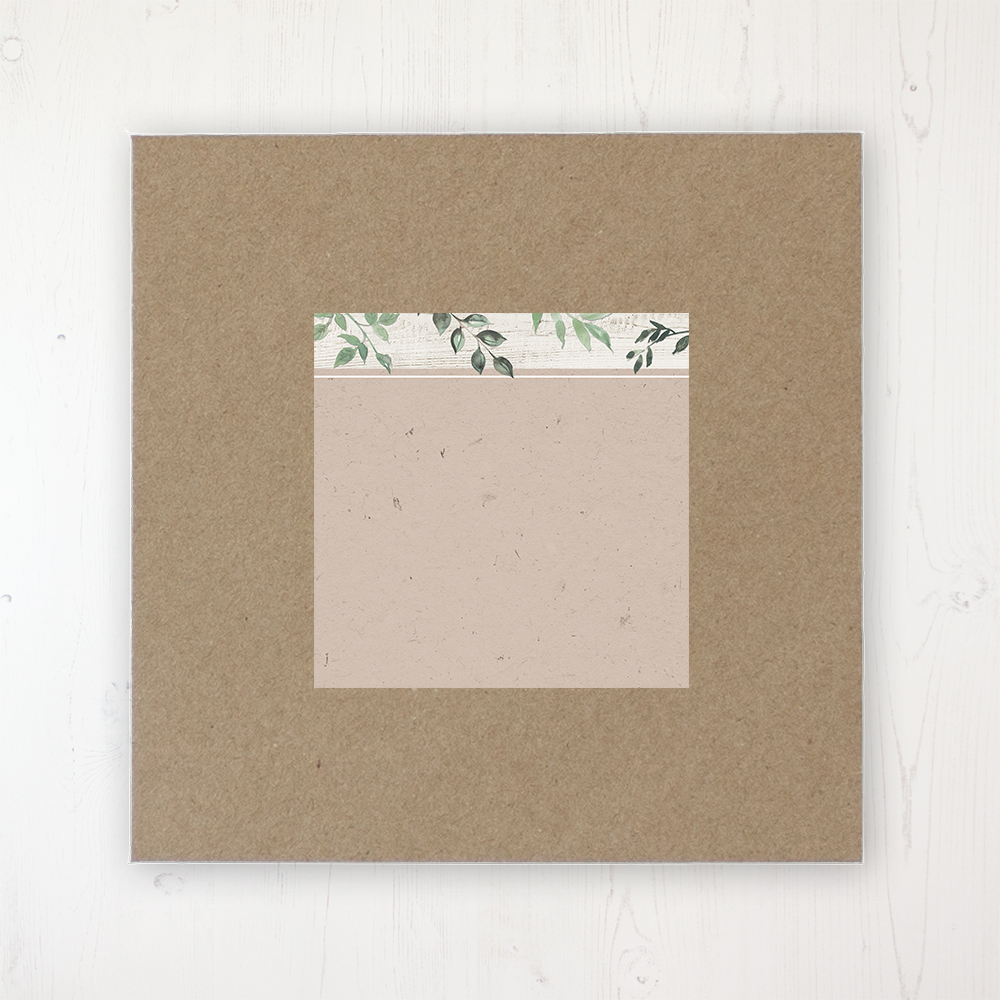 Evergreen Forest Wedding Envelope Label on Rustic Brown Envelope