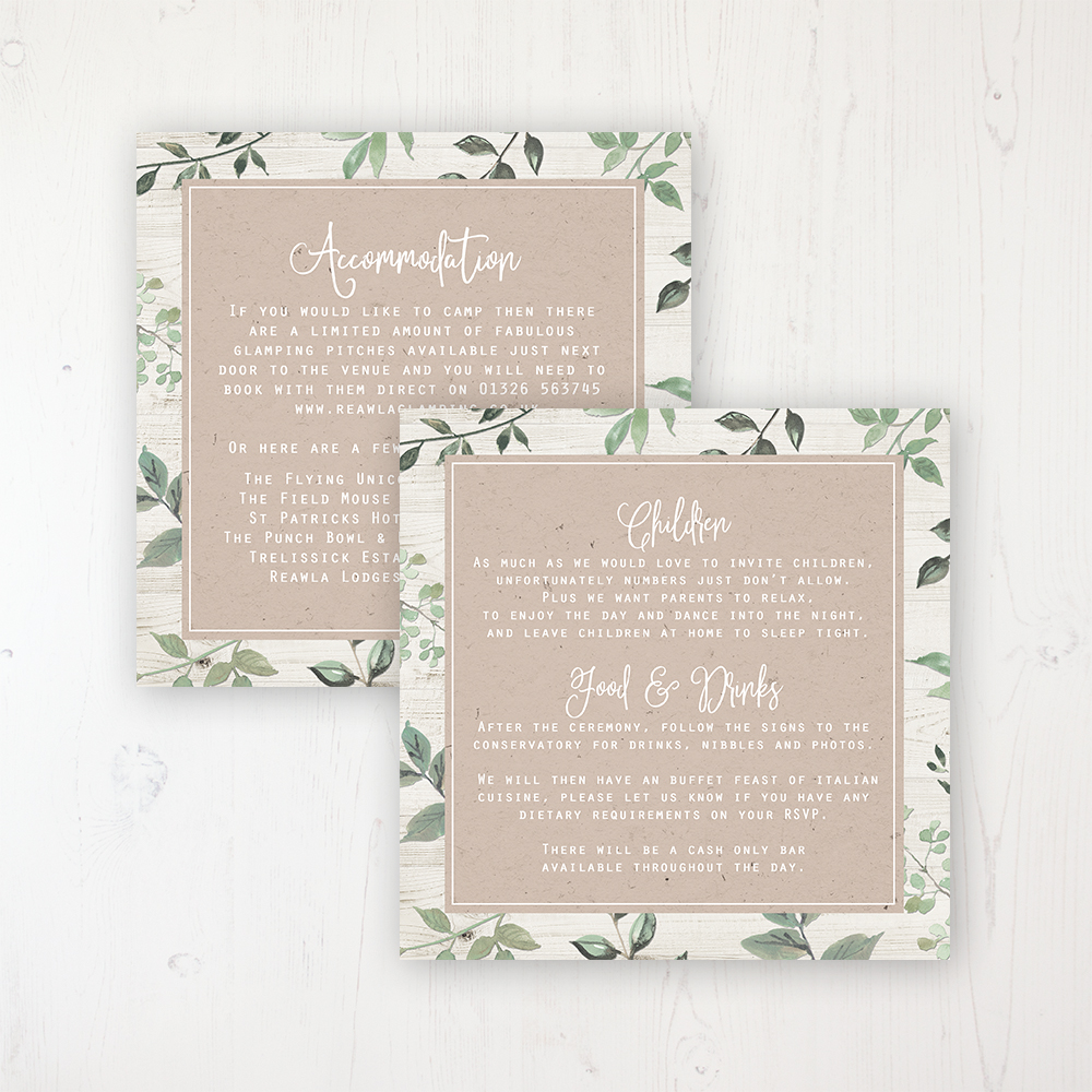 Evergreen Forest Wedding Invitations - Sarah Wants Stationery