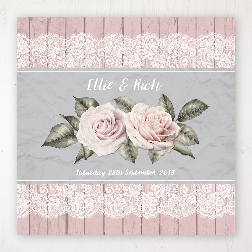 Powder Rose Wedding Collection - Main Stationery Design