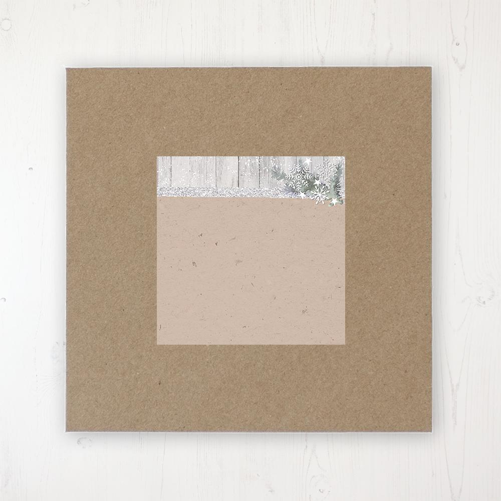 Winter Wonderland Wedding Envelope Label on Rustic Brown Envelope