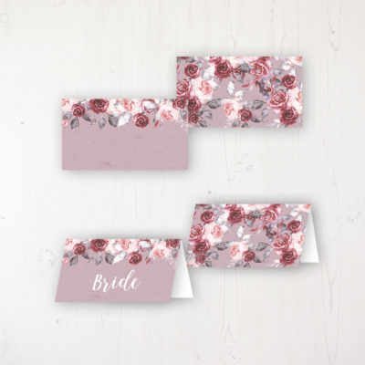 Bordeaux Vineyard Wedding Place Name Cards Blank and Personalised with Flat or Folded Option