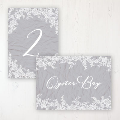 Floraison Lace Wedding Table Name & Number Personalised Table Name Card and Number Card