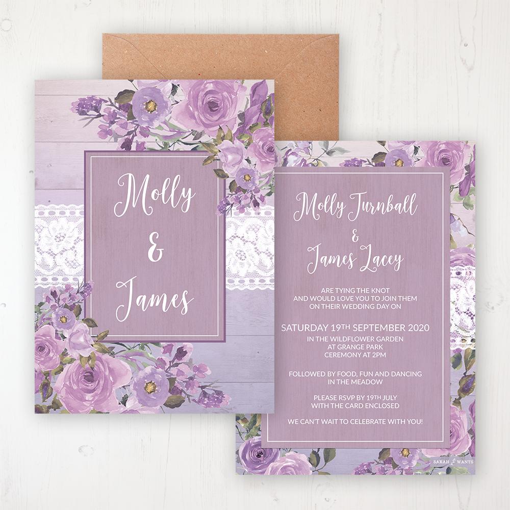 Wild Lavender Wedding Invitations Sarah Wants Stationery