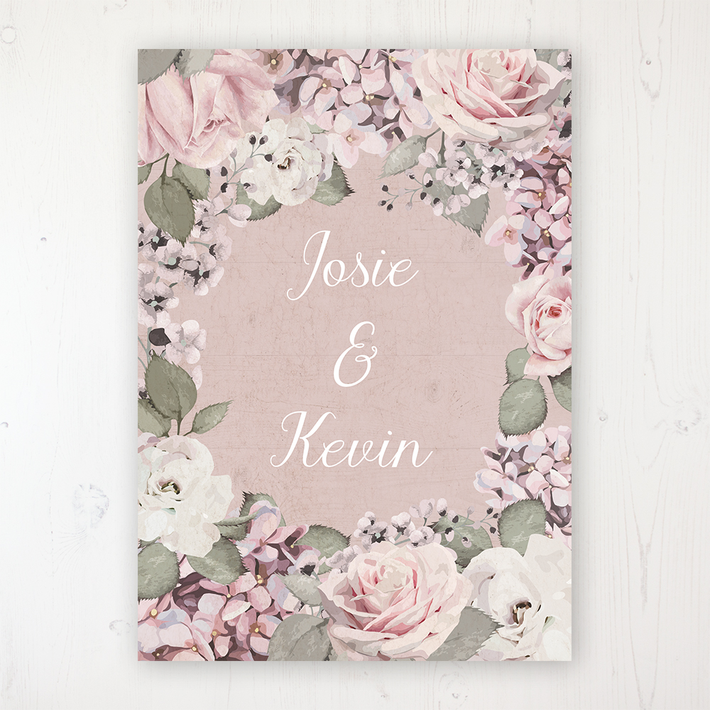 f41db1acdc40 Dusty Rose Garden Wedding Invitation Sample - Sarah Wants Stationery