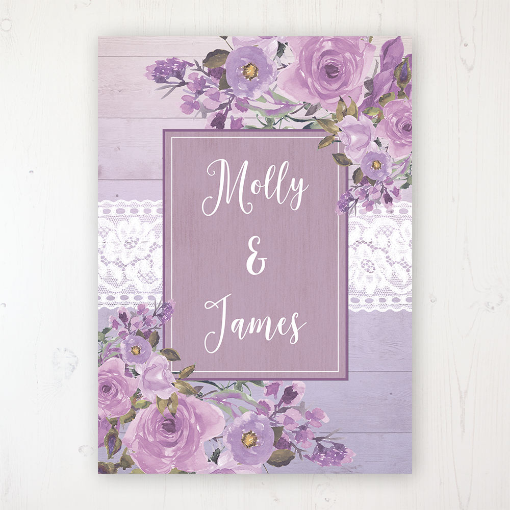 d0ef8b4e1a12 Wild Lavender Wedding Invitation Sample - Sarah Wants Stationery